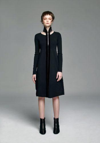 羊毛圓領針織洋裝