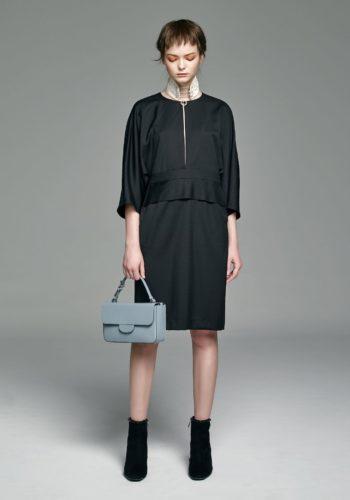 羊毛開襟七分袖洋裝