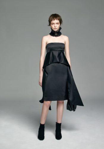 絲質平口馬甲小禮服