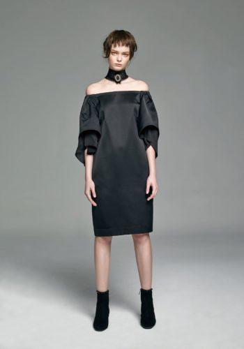 絲質平口小禮服