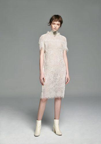 立領蕾絲小禮服