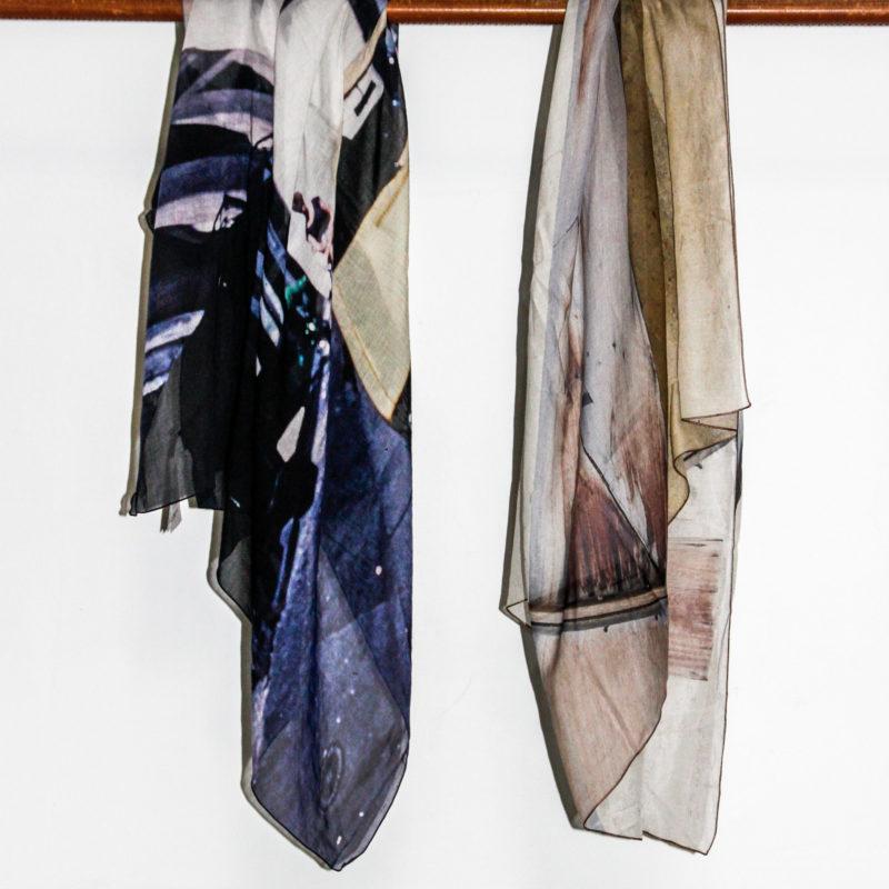 影像絲棉圍巾系列